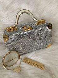 Judith Leiber Rare Vintage Train Case With Crystals2250.00