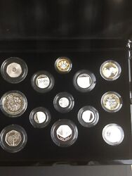 2021 Uk Silver Proof Annual 13 Coin Set Royal Mint Sealed Box With Coa 332