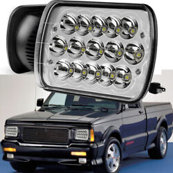 Chrome 7x6and039and039 Led Headlight Square Bulb Hi/low Sealed Beam For Chevy S10 Sonoma