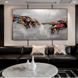 Canvas Wall Art Painting Abstract Creation of Adam Home Décor Picture Poster