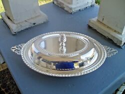 Vintage Towle Silversmiths Silverplate Veggie Relish Dish W Glass Liner Tray New