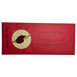Vintage Authentic Red Tape With Wax Seal From Civil War Documents - Official