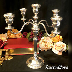 Sterling Silver Candelabra Wallace 4494 5 Arm Candle Holder 13.75 Tall