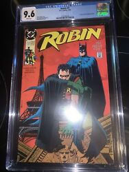 Robin 1 Cgc 9.6 1991 Dc Comics Neil Adams Poster Included New Frame🔥relaunch