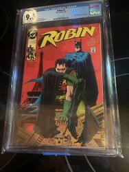Robin 1 Cgc 9.6 1991 Dc Comics Neil Adams Poster Included New Frame