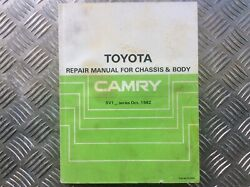 Genuine Toyota Repair Manual Chassis Body Camry Sv10 1982 1s Factory Workshop