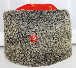 Military Russia Ussr Army Wool Service Cap Hat General Circumference 54 Cm