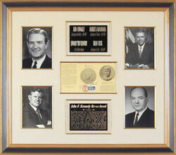 Edward Ted Kennedy - Pamphlet Signed With Co-signers