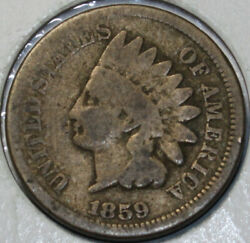 1859-p Indian Head Cent Copper/nickel. You Will Receive The Coin Shown [sn02]