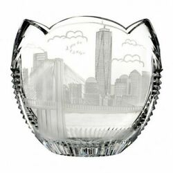Waterford America The Beautiful New York 9.3 In Crystal Bowl B1001