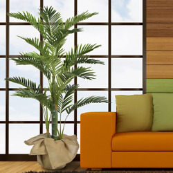 Fake Decorative Large Tropical Tree Artificial Willow Ficus 5.3 Ft Home Decor
