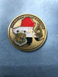 Challenge Coin Older Us Central Command Operation Iraqi Freedom Baghdad Iraq