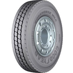 4 New Goodyear Workhorse Msa 12r22.5 Load H 16 Ply All Position Commercial Tires