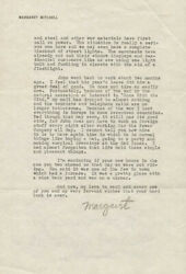 Margaret Mitchell - Typed Letter Fragment Signed Circa 1941