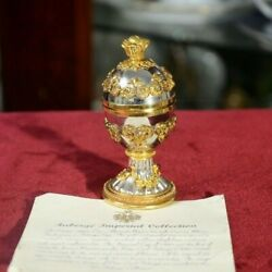 Faberge Imperial Collectionimperial Egg Winter Palace Russian Authentiс 1980s