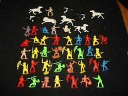 Set Of 47 Marx Toys And Other Vintage Cowboys, Indians And Horses - Western Set