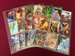 Sky Box 1993 Marvel Masterpieces Complete Set With All Bonus Card Extra Stickers