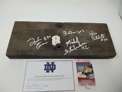 3 Amigos Signed Autographed Notre Dame Fighting Irish Stadium Bench 88 Champs