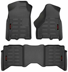 Gator 79602 Black Front And 2nd Seat Floor Liners Fits 09-18 Ram 1500 Crew Ca...