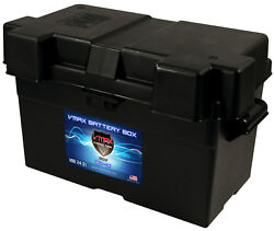 Vmaxtanks Adjustable Battery Box For Marine Group 27-31 For Boats Pontoons