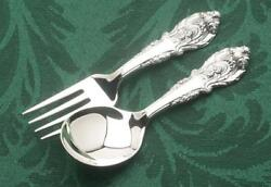 Sir Christopher By Wallace 2 Piece Baby Fork And Spoon Set New Sterling Silver