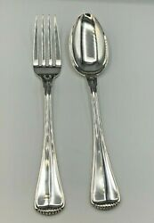 Milano By Buccellati Sterling Silver 2 Piece Serving Fork And Spoon Set 10 3/8