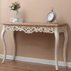 Entryway Wood Console Table Carved Vintage Legs Home Decor Victorian Style
