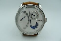 Azimuth Jour Et Nuit Retrograde Minutes Swiss Made 42mm Rare Day Night Indicator