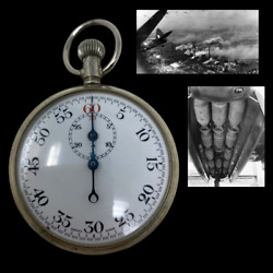 Original British Wwii Royal Air Force Stopwatch For Bombing Raids On Germany