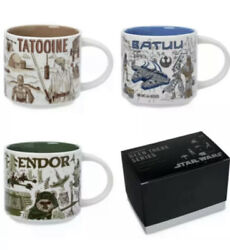 2021 Starbucks Star Wars May The 4th Mugs Been There Set Endor Tatooine Batuu