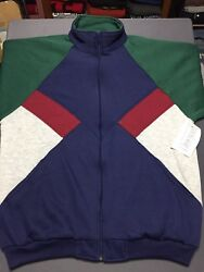 New Vtg 80s Santolina Color Block Jacket Large L 90s Rare Hipster Deadstock Nwt
