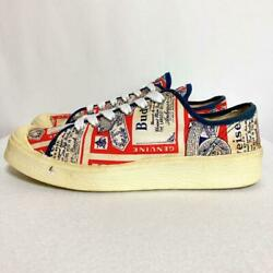 Budweiser 70s Us Size 8.5 White Canvas Men's Sneakers Used