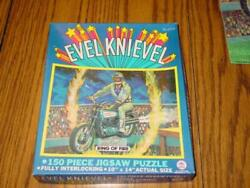 1974 H-g Toys Evil Knievel - Ring Of Fire Puzzle 10 X 14 Complete 475-02