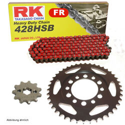 Chain Set Suitable For Yamaha Dt 175 74-77 Chain Rk Fr 428 Hsb 114 Open Ro
