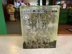 2021 Joy Toy Wwii Us Airborne Division 5 Pack Figure Set 1/18 Scale Nib