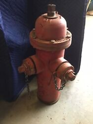 Vintage Fire Hydrant W/american Darling Valve Beaumont Texas 28andrdquo Local Pickup