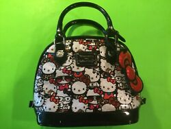 Loungefly Hello Kitty Sanrio Faux Patent Leather Embossed Tote Bag Purse