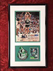 Rare Larry Bird Framed Autographed Limited Edition Picture 40/50 With Rc Card