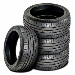 4 New Accelera Phi 255/40zr18 255/40r18 99y Xl A/s High Performance Tires