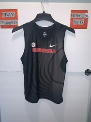 Nike Georgia Bulldogs Team Issued Track And Field Singlet Men's Szs Made In Usa