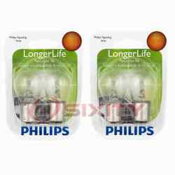 2 Pc Philips Rear Turn Signal Light Bulbs For Renault Fuego 1982-1984 Cp