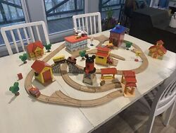 Vtg Lot Disney Mickey's See Ya Real...wooden Train Bradford Exchange Clubhouse