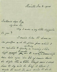 Grover Cleveland - Autograph Letter Signed 11/08/1904