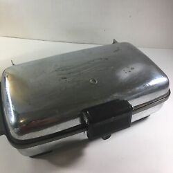 General Electric Waffle Maker Iron 159g40 Vintage 1950s Chrome Shiny Works Great