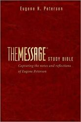 The Message Study Bible Leather-look Capturing The Notes And Reflections