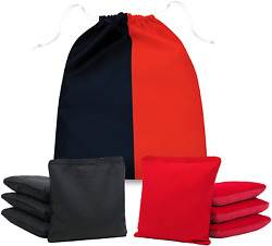 Pro Cornhole Bags Double Sided Slick And Sticky Side Set Of 8 Regulation Bean Red