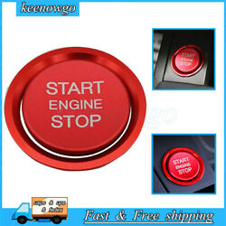 Red S-line Rs Style Keyless Engine Push Start Button Cover For Audi A4 A5 Q5 S4