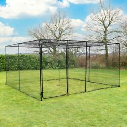 Harrier Walk In Fruit Cage   Sturdy Frame/20mm Bird Netting   Plant And Veg Cover