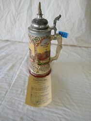 Vintage Beer Stein Made In Germany With A Piece Of The Berlin Wall On The Lid