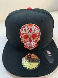 Tampa Bay Buccaneers New Era 59fifty 5950 Sugar Skull Day Of The Dead Hat 7 3/8
